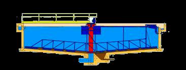 Chiarificatore circolare a metà ponte-mobile