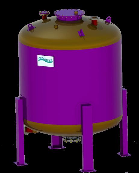 Filtro a carbone attivo per biogas Ecoplants Parma-mobile
