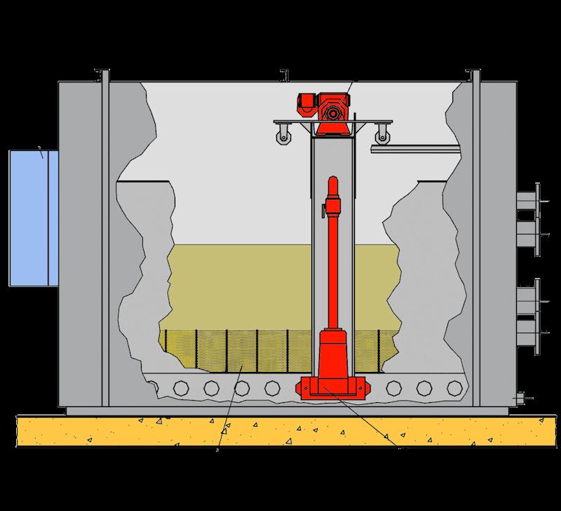 Filtro a gravità a lavaggio automatico su letto granulare con vasca prefrabbricata Ecoplants Italia-mobile