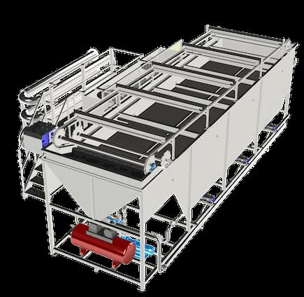 Flottatore ad aria disciolta con vasca prefabbricata Ecoplants Parma-mobile