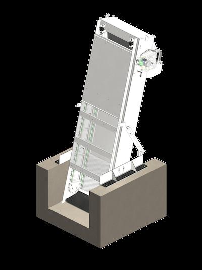 Griglia meccanica a barre a catena-mobile