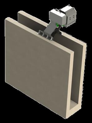 Griglia subverticale a tappeto-mobile