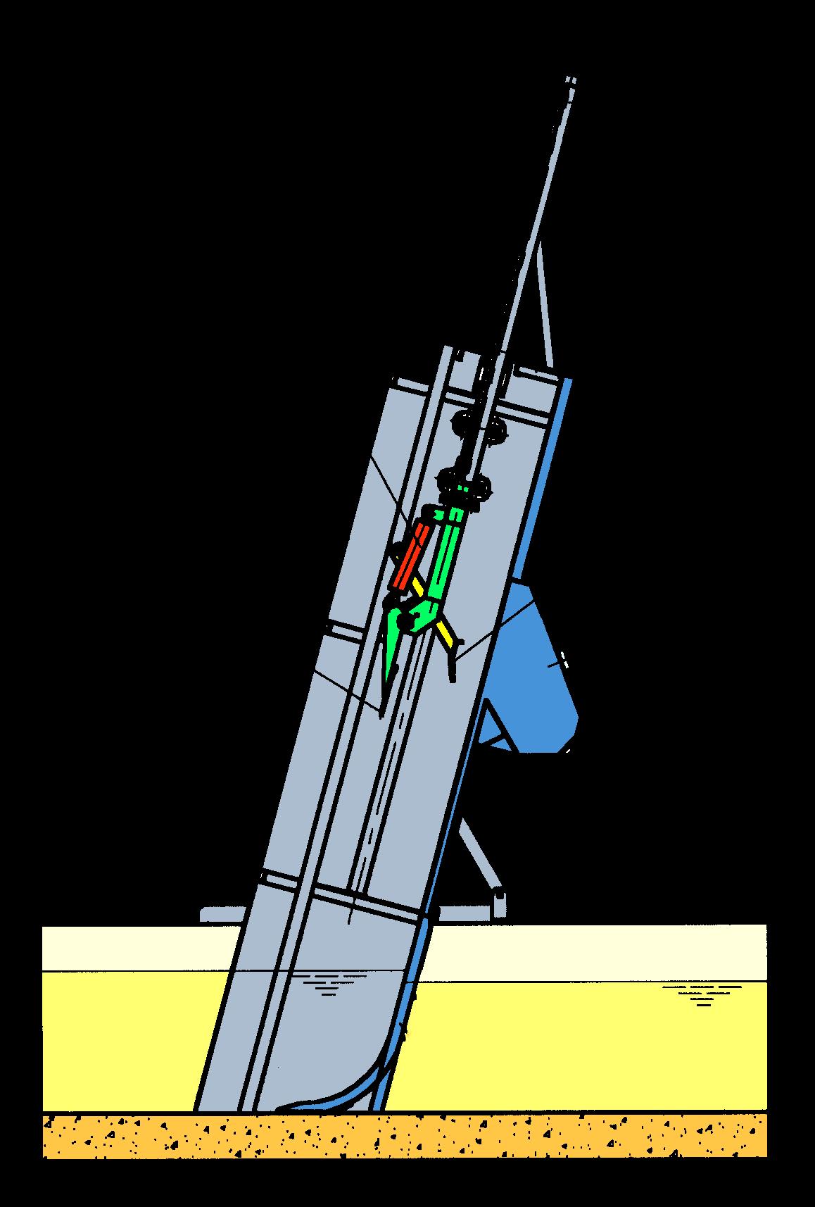Griglia idraulica a barre a pulizia frontale-mobile