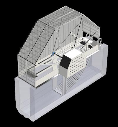 Griglia meccanica rotativa a barre-mobile