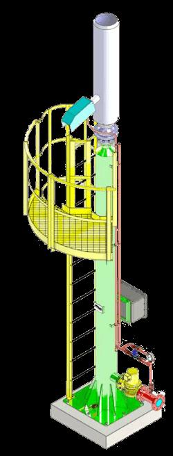 Torcia semi chiusa per biogas Ecoplants Italia-mobile