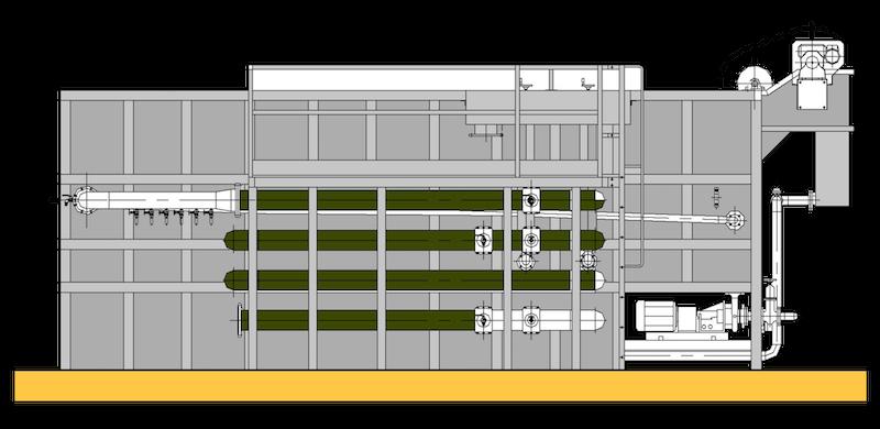 Unità combinata di flottazione e filtrazione compatta Ecoplants Italia-mobile