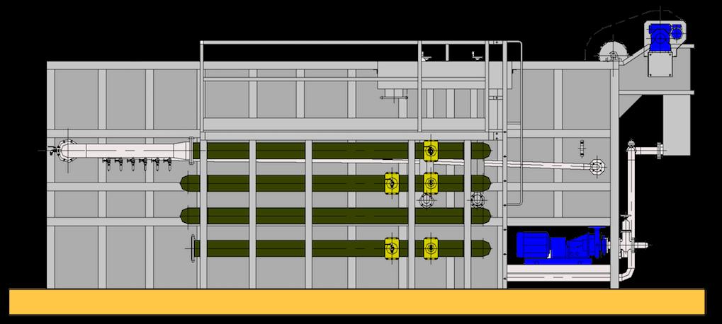 Unita combinata di flottazione e filtrazione compatta Ecoplants-mobile